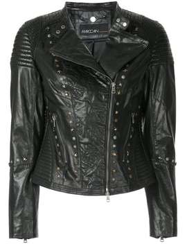 Embroidered Biker Jacket by Marc Cain