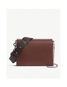 Leather Zep Cross Body Box Bag by Allsaints