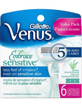 Venus Embrace Sensitive Women's Razor 5 Blade Cartridge Refills by Gillette