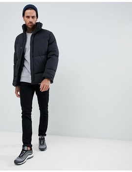 Asos Design Oversized Puffer Jacket In Black by Asos Design