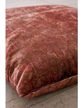 Velvet Printed Floor Pillow by Urban Outfitters