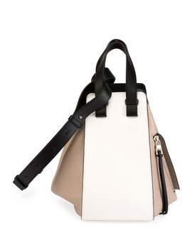Hammock Small Colorblock Leather Satchel Bag by Loewe