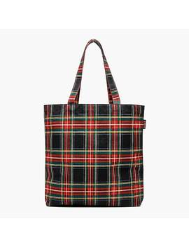 Reusable Everyday Tote In Plaid by J.Crew