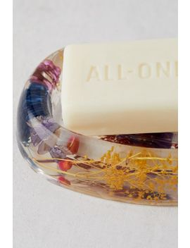 Acrylic Dried Floral Soap Dish by Urban Outfitters