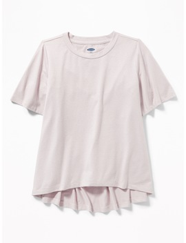Flutter Sleeve Sparkle Top For Girls by Old Navy