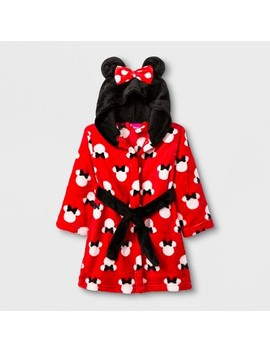 Toddler Girls' Minnie Mouse Robe   Red by Minnie Mouse