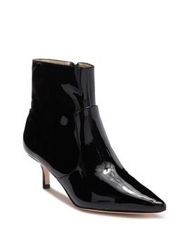 Astor Kitten Heel Patent Leather Bootie by Bettye Muller