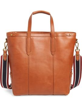 Oar Stripe Leather Tote by J.Crew