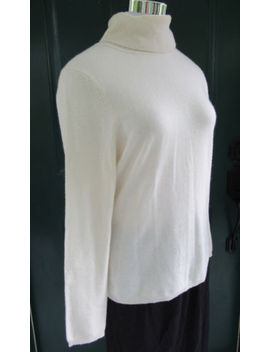 Charter Club Womans Ivory Cashmere Turtle Neck Sweater Size M Long Sleeves by Charter Club