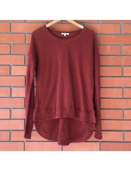 Madewell Long Sleeve Crew Neck Women's Sweater Hi Low Hem Size Large by Madewell