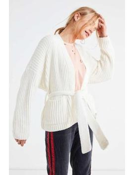 (Nwot Urban Outfitters Ivory Quinn Tie Chenille Cardigan, Sz L) by Urban Outfitters