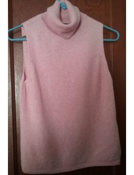 Womens Tops Valerie Stevens 2 Ply Cashmere Sleeveless Turtleneck Pink Specked by Valerie Stevens