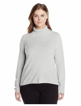 Lark & Ro Women's Plus Size 100 Percents Cashmere Soft Slime Fit Turtleneck Sweater by Lark & Ro