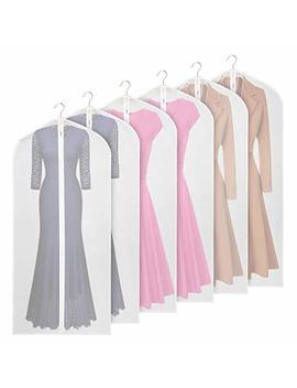 Univivi Garment Bag 60 Inch Suit Bag For Storage(Set Of 6),Washable Clear Lightweight Garment Bags For Long Dress Dance Costumes Suits Gowns Coats by Univivi