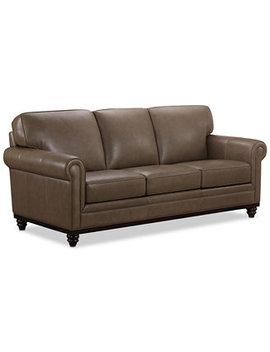 "Bradyn 89"" Leather Sofa, Created For Macy's by Martha Stewart Collection"