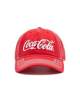 Embroidered Coca Cola Snapback Hat by Forever 21