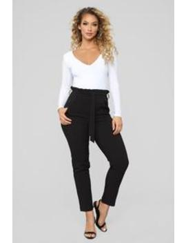Tied Around You Tie Waist Pants   Black by Fashion Nova