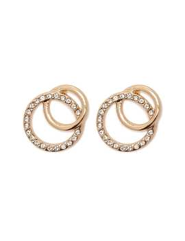 Interlinked Hoop Stud Earrings by Forever 21