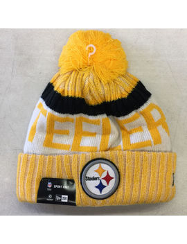 Youth Pittsburgh Steelers Era Knit Hat On Field 2017 Sideline Beanie Cap Nfl by New Era
