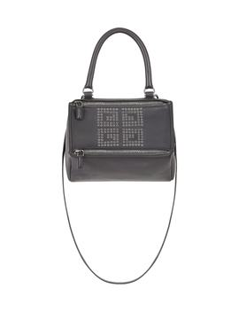 Small Pandora Logo Leather Satchel by Givenchy
