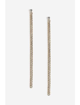 Chain And Rhinestone Drop Earrings by Topshop