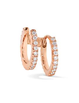 6.5mm 18 Karat Rose Gold Diamond Earring by Maria Tash