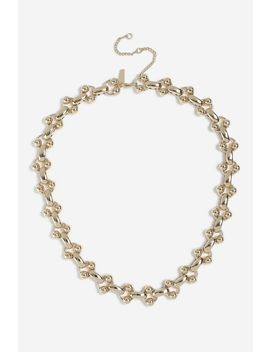 **Ball Linked Chain Necklace by Topshop