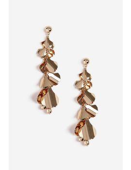 **Mega Leaf Drop Earrings by Topshop