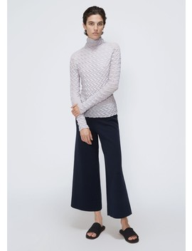 Long Sleeve Zig Zag Pleat Top by Issey Miyake