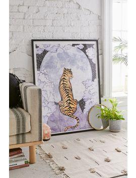 Ec Mazur Tiger Moon Art Print by Ec Mazur
