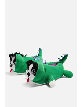 Dino Dog Slippers by Topshop