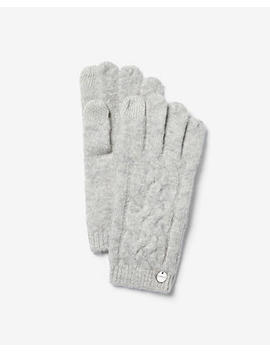 Touchscreen Compatible Cable Knit Tech Gloves by Express