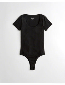 Ribbed T Shirt Bodysuit by Hollister