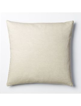 Belgian Linen Euro Sham, Natural Flax by West Elm