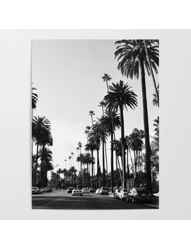 Los Angeles Black And White Poster by