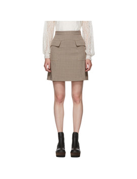 Multicolor Houndstooth Pocket A Line Miniskirt by See By ChloÉ