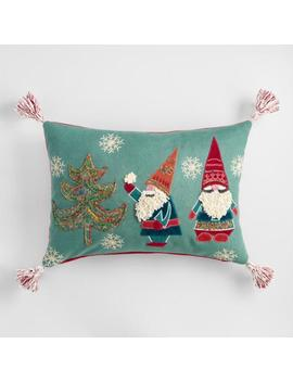 Embroidered Gnomes Lumbar Pillow by World Market
