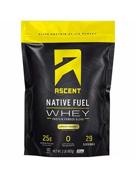 Ascent Native Fuel Whey Protein Powder   Lemon Sorbet   2 Lbs by Ascent