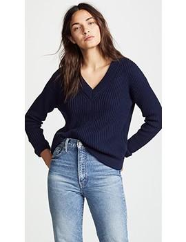 Deep V Sweater by Bop Basics