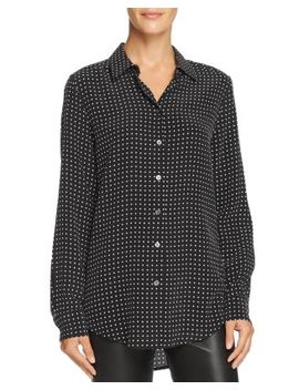 Essential Dotted Silk Shirt by Equipment