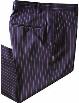 Auguswu Mens Slim Fit Stripes Business Suit 3 Piece Separate £¨Blazer Pants Vest by Auguswu