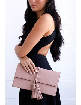 Indra Mauve Tassel Clutch by Lulus