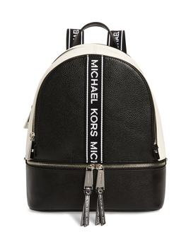 Medium Rhea Leather Backpack by Michael Michael Kors