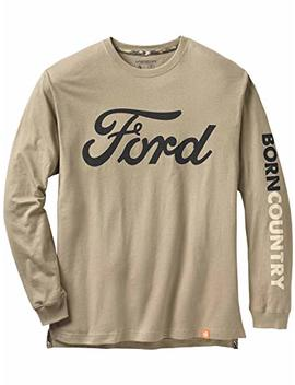 Legendary Whitetails Men's Born Country Ford Long Sleeve T Shirt by Legendary Whitetails