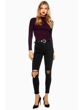 Black Wing Rip Jamie Jeans by Topshop