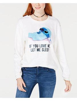 Juniors' Disney Stitch Fuzzy Graphic Sweatshirt by Love Tribe