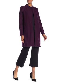 Long Wool Blend Jacket by Modern American Designer