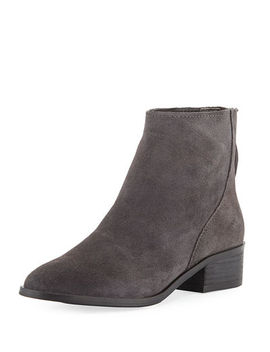 Tyana Back Zip Suede Booties by Dolce Vita