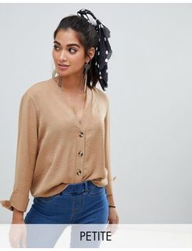 New Look Petite Shirt In Camel by New Look Petite