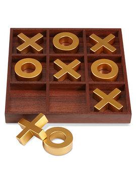 10 Piece Wooden Tic Tac Toe Set by Studio Mercantile